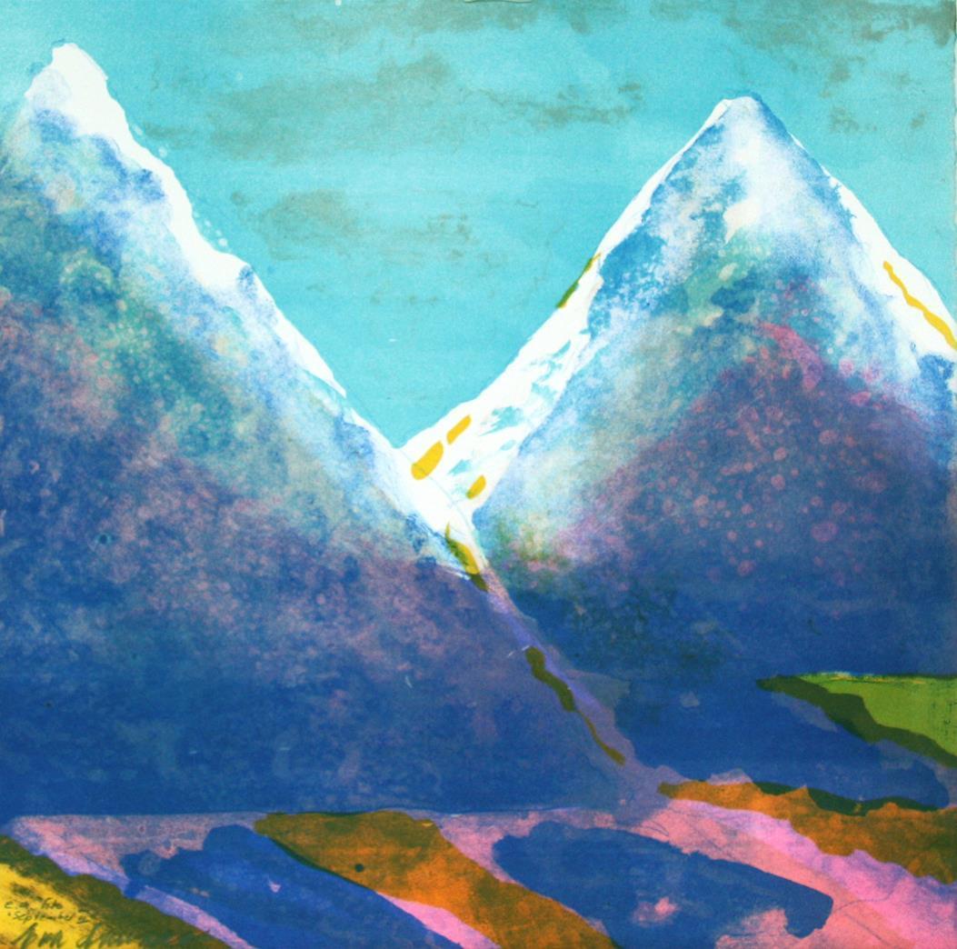 """""""September II"""", litografi 39 x 39 cm."""