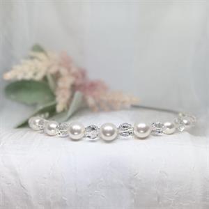 Vanja hårbøyle med perler og krystaller
