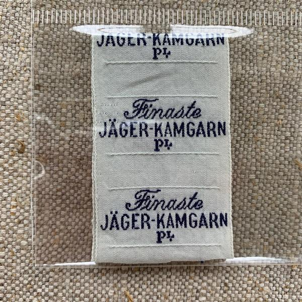 """""""Finaste Jäger"""" tygetikett mörkblå"""