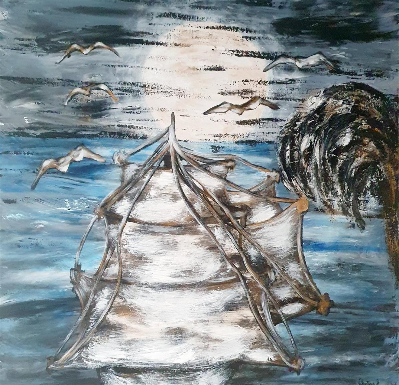 Originalkonst/ painting, Natur 80x80 cm
