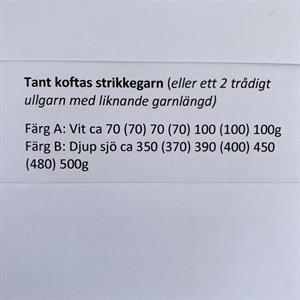 "Tröjan ""Barbros stjärnor"" stickbeskrivn. m. porto"