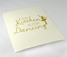 Disktrasa, Kitchen dancing, vit/guldtext