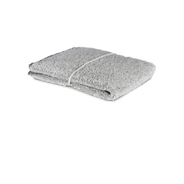 Handduk Linnefrotté vit-svart