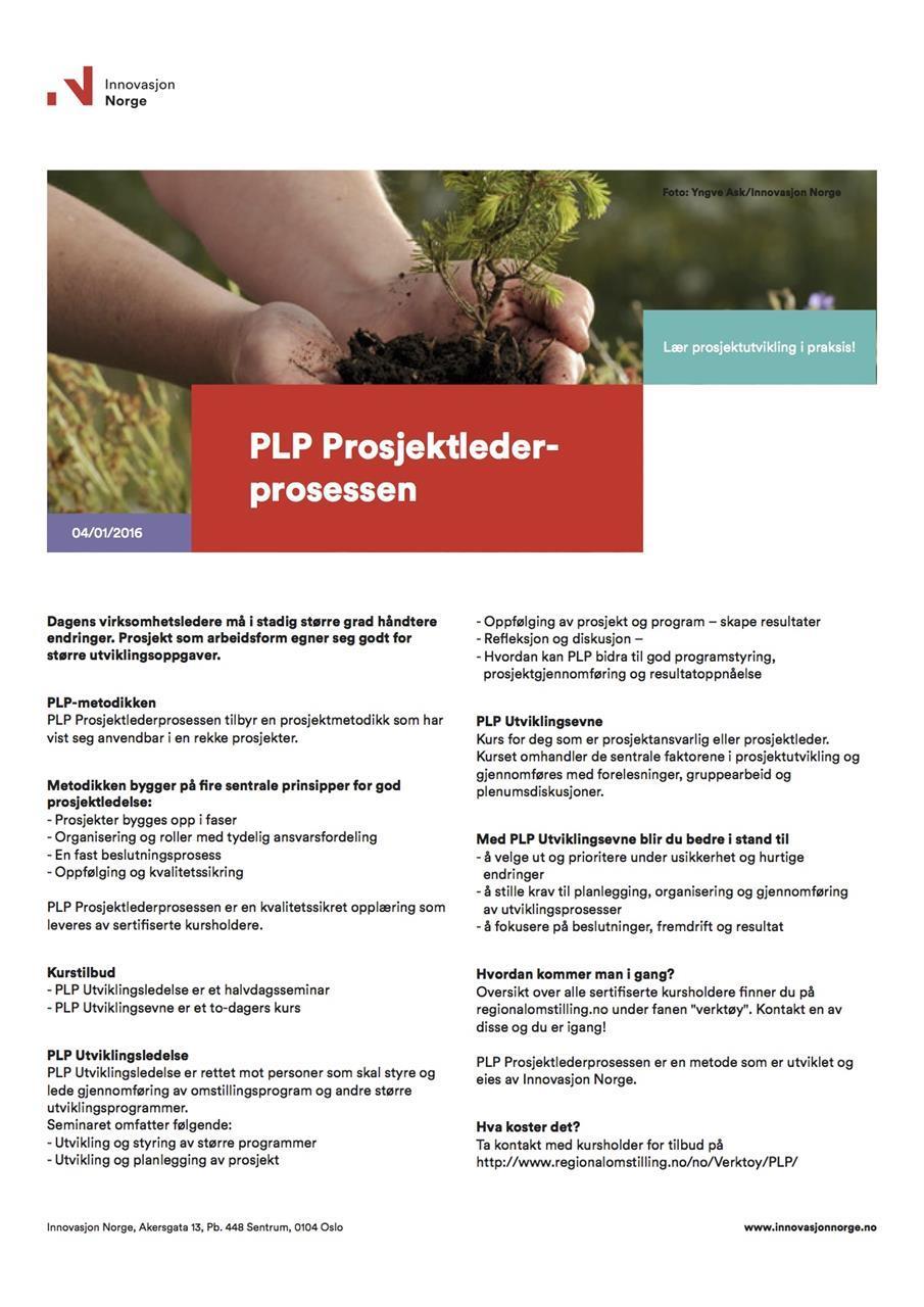 Innovasjon Norges Produktark