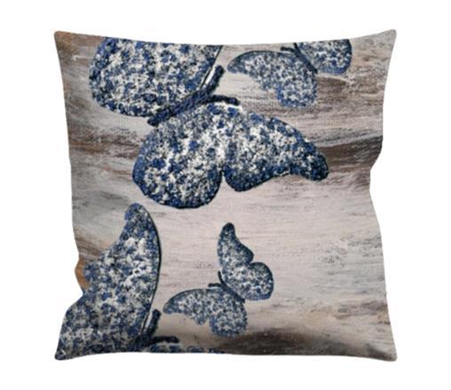 Kuddfodral ,textil,fjärilar