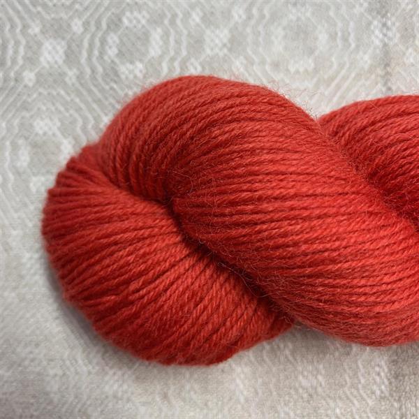"""""""Röd Moppe"""" Trekking sockgarn"""