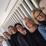 Louise, Evelina, Christina, Jessica, Helen, Marie, Anette och Annie