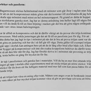 Tröjan Bagarmossen - stickbeskrivning m. porto