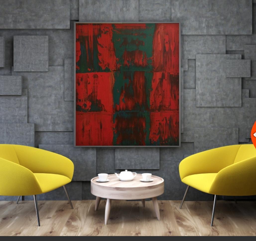 Originalkonst, Abstrakt 2,60x60 cm