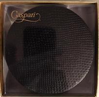 Caspari glassbrikke 8stk, Snakeskin black