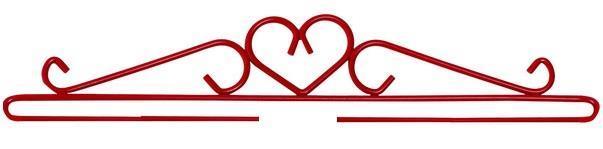 Beslag/hängare Rött hjärta 16 - 80 cm