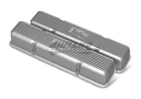 SBC HOLLEY VALVE COVERS,FINNED,NON-EMIS,
