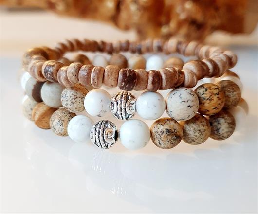 Herrsmycken /herr armband / stenar