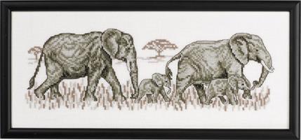 Tavla elefanter på rad