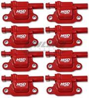 Coils, Red, Square, '14 & up GM V8, 8-pk