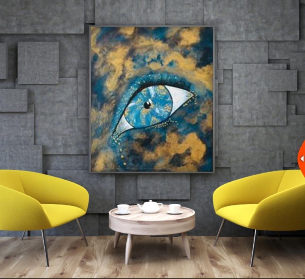 Originalkonst ,Lagrimas  50x50 cm