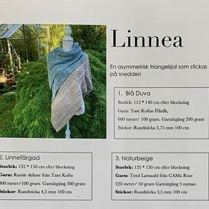 """Sjalen """"Linnea"""" pappersbeskrivning m. porto"""