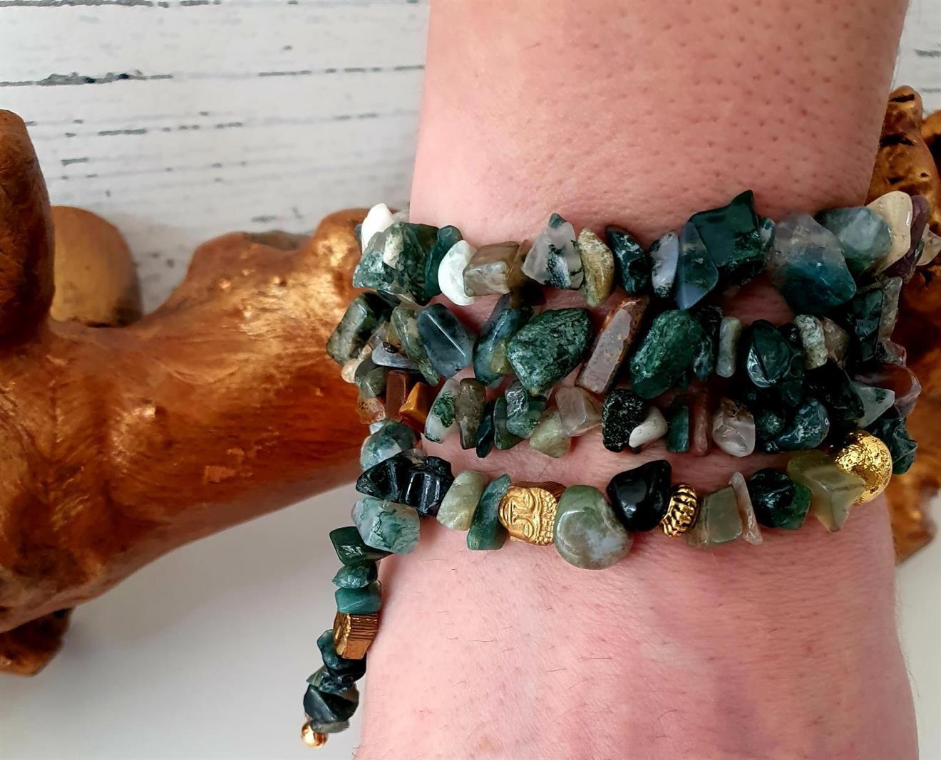 Yoga armband -wrap bracelet Buddha