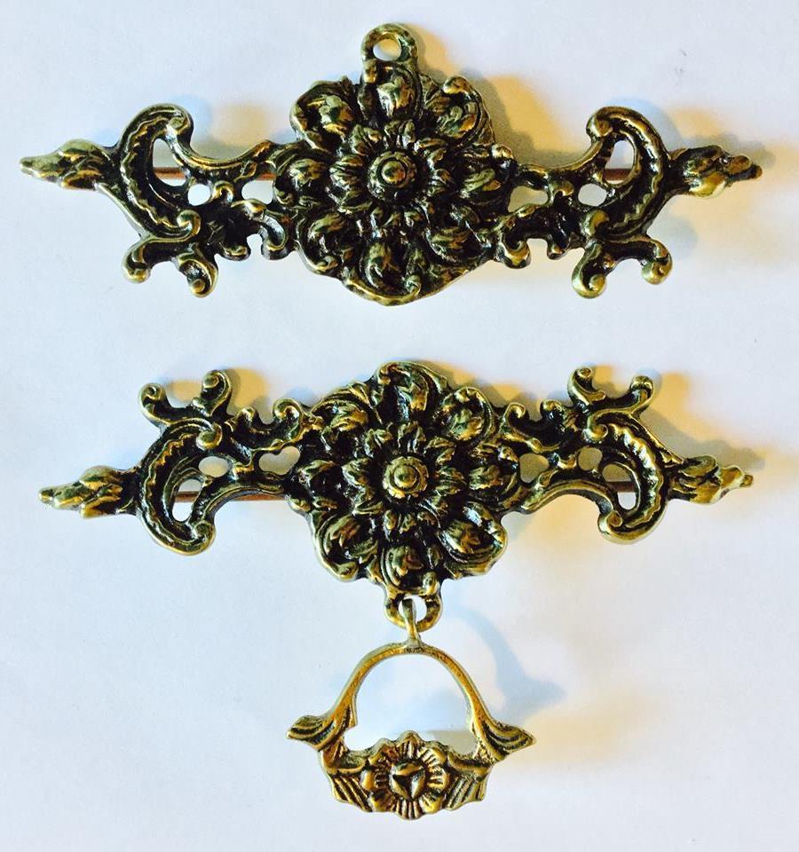 Beslag/hängare klocksträng guld 16 cm