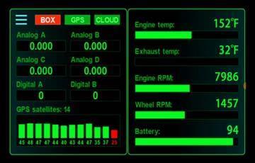 Racepak D3 Pit Dash, Race Dash, Lap Time Screen and Log In Information - Öppnas i nytt fönster