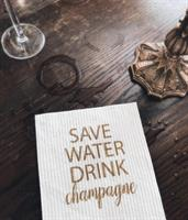 Disktrasa, Save water, vit/guldtext