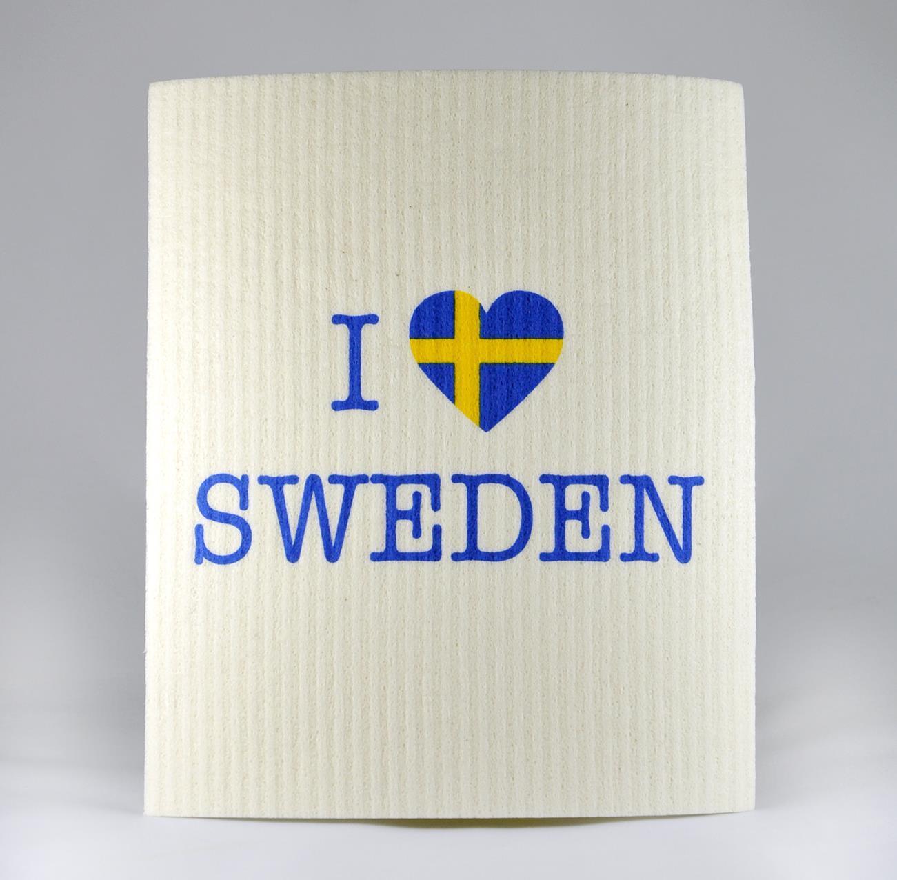 Disktrasa, I love Sweden, vit blå/gul text