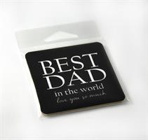 Magneter, Best Dad, svart/vit text