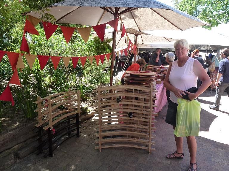 Marknad i Stellenbosch Sydafrika