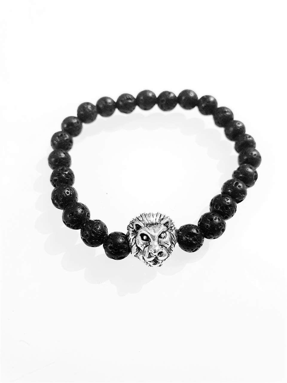 Herr armband lejon