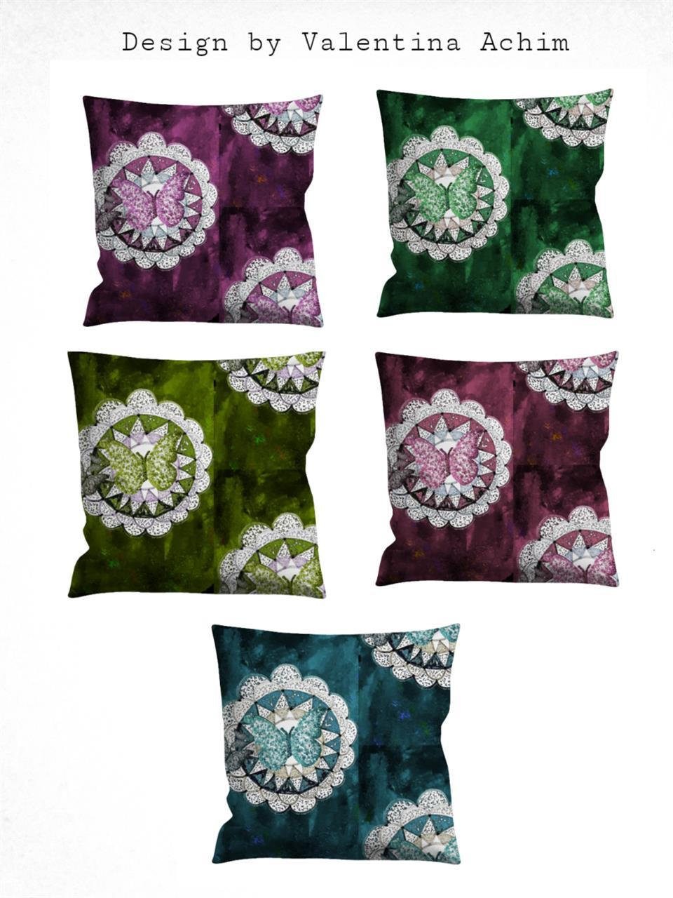 Design by Valentina Achim -kuddfodral i indisk stil