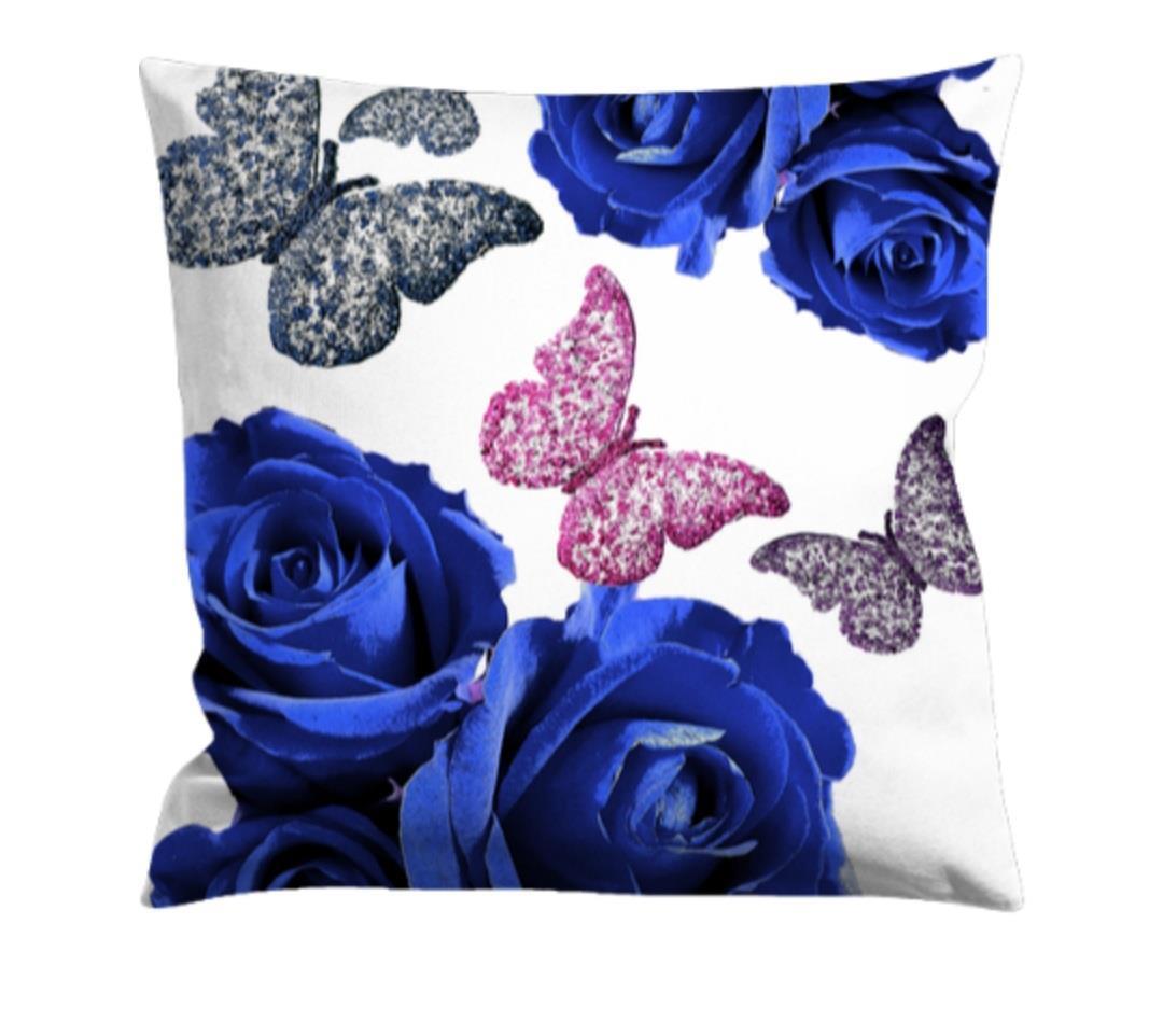 Kuddfodral -blommor och fjärilar, 40x40 cm