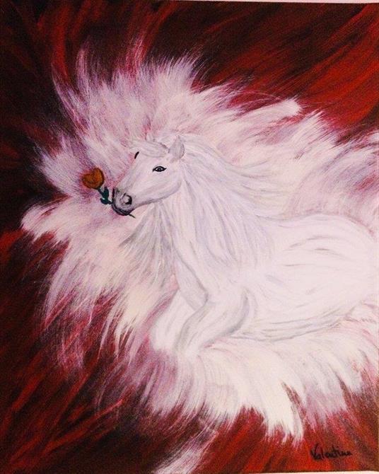Originalmålning djur-The heart 40*50 cm