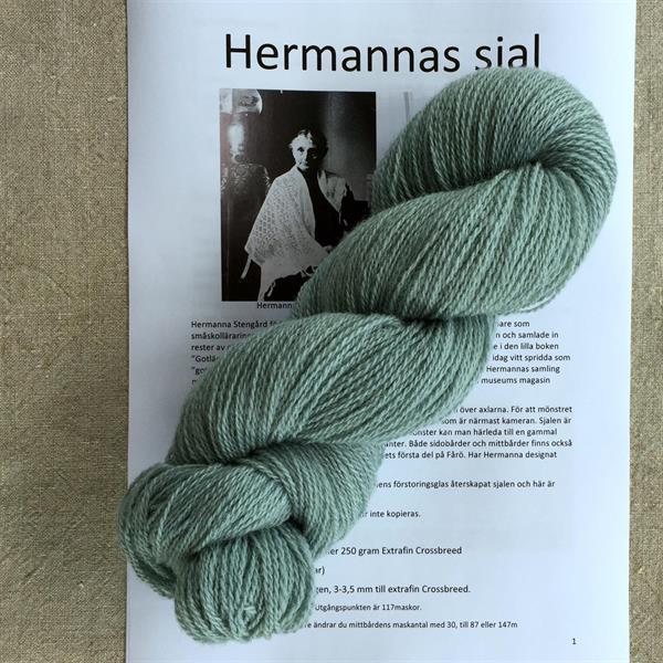 Hermannas sjal paket Isgrön 100% ull