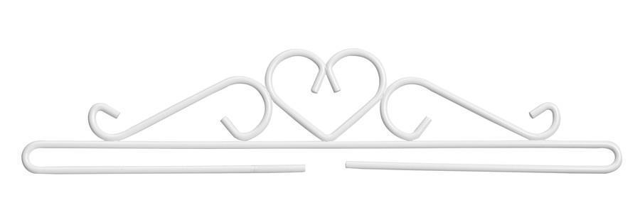 Beslag/hängare Vitt 38 eller 50 cm