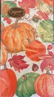 Buffet serviett Pumpkin field white, 15stk 3lags