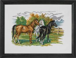 3 hästar