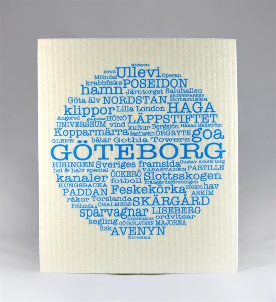 Disktrasa, Göteborg, vit/blå text