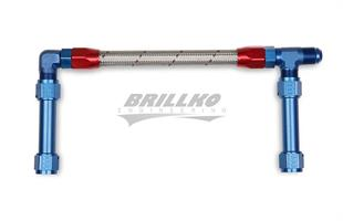 '-8AN SINGLE INLET W/STAINLESS HOSE