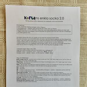 Koftans enkla socka 2.0 - Stickbeskrivning