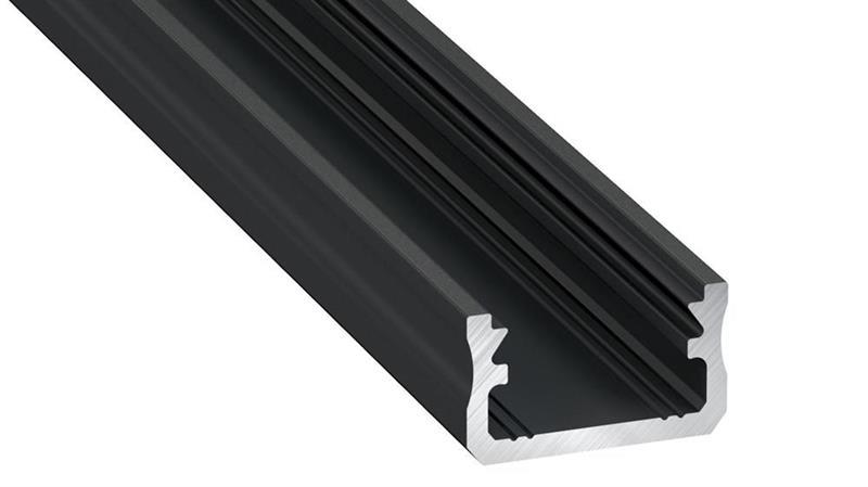 U-profil svart standard LUMINES A 16x9mm