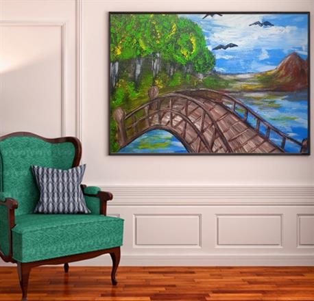 Originalmålning 80x80 cm
