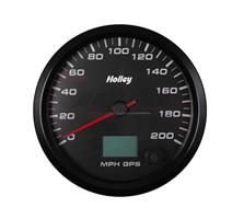 4-1/2 HOLLEY 200 GPS SPEEDO-BLK