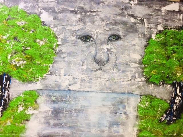 Abstrakt tavla djur -Te miro 70*100 cm