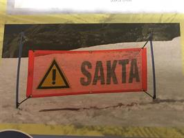 SAKTA-SKYLT 200 x 75 cm