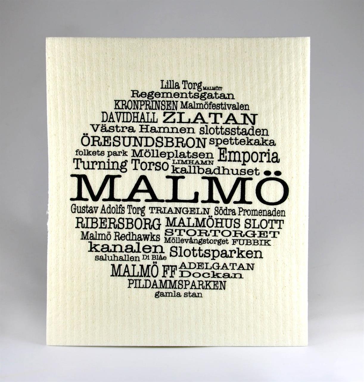 Disktrasa, Malmö, vit/svart text