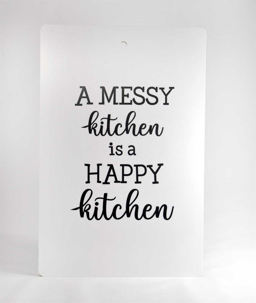 Skärbräda, A messy kitchen, svart-vit/vit-svart