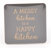 Magneter, A messy kitchen, svart/guldtext
