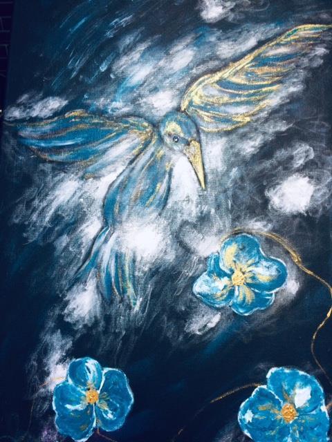 Abstrakt tavla-To fly , 40*80 cm