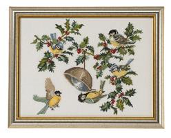 Fåglar i julgrenar