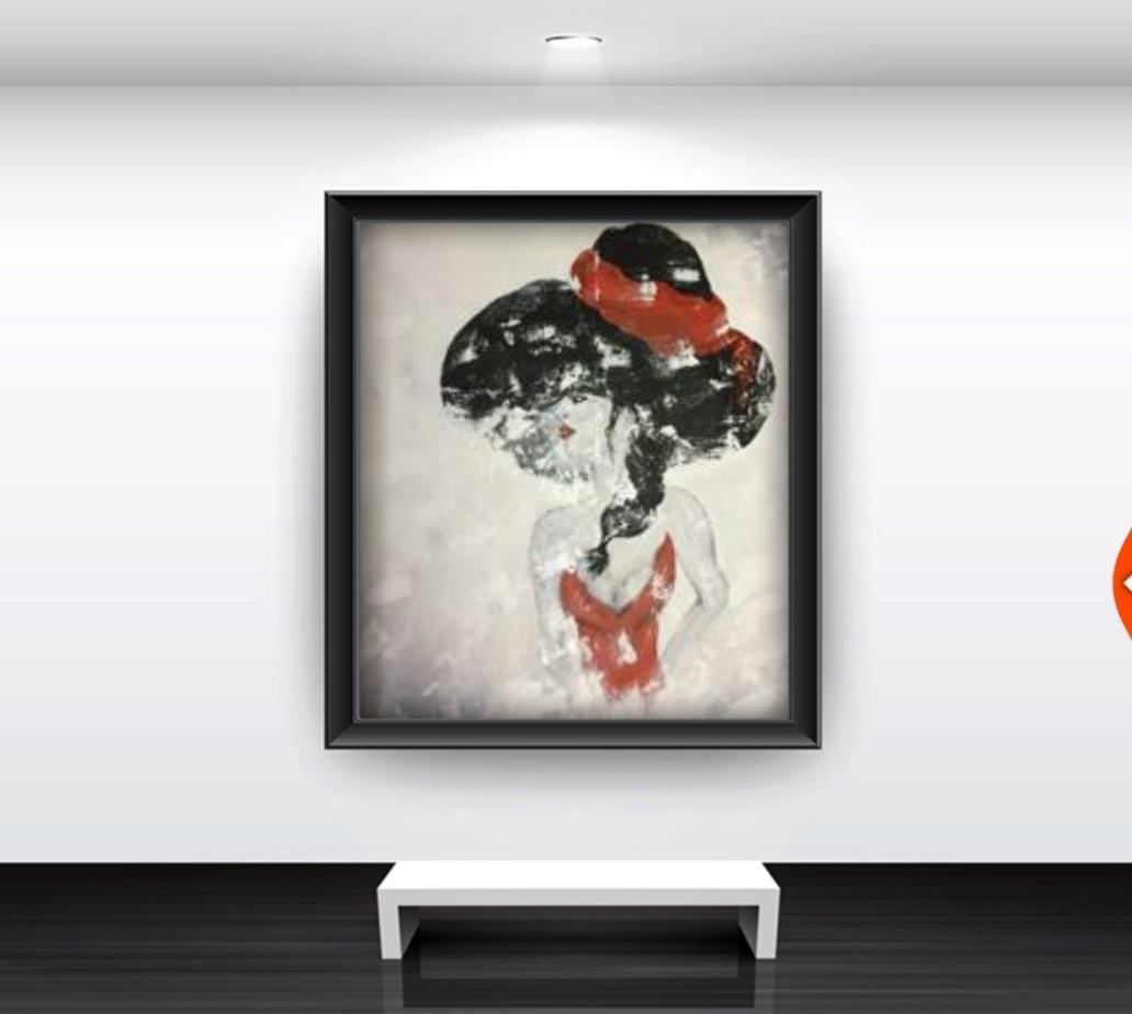 Originalkonst, Elegance 100x80 cm